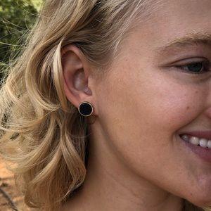Anthropologie Jewelry - 🎶🆕Black Druzy Quartz Framed Earrings!♠️